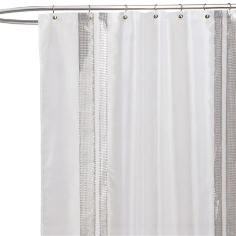 white sequin shower curtain pin by susan williamson bishop on bath makeover ideas