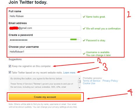 cara membuat twitter terbaru cara mudah membuat akun twitter terbaru hello ridwan