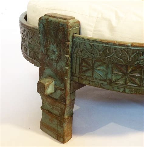 indian ottoman ottoman india indian carved teak ottoman omero home x