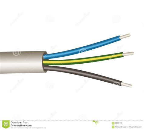three wire power cord stock photo image 69481116