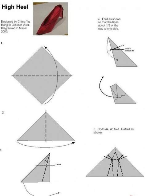 How To Make A Paper High Heel Shoe - shoes origami