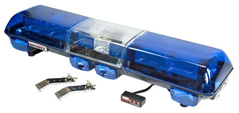 Blue Led Strobe Light Bar Blue 18 Quot Emergency Traffic Blue Led Light Bar
