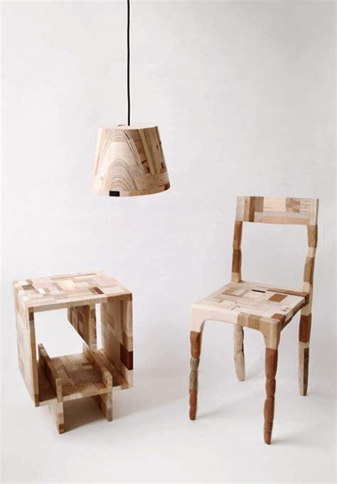 Patchwork Wood Furniture - wood waste scrap furniture core77