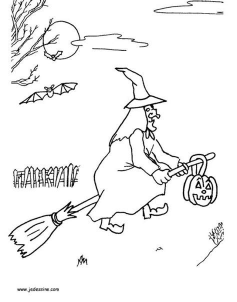 witch broomstick coloring page witch on a broomstick coloring pages hellokids com