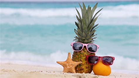 Summer Of Blockbuster Thirds Continues Of The Caribbean At Worlds End Premiere by Pineapple Fruit In Sunglasses And Sunscreen Protection