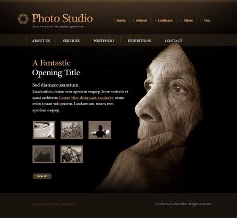 photo slides website template 5498 art & photography
