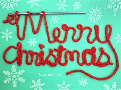 merry christmas crafters crocheters  yarn lovers repeat crafter