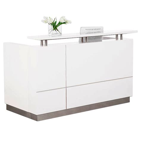 Small White Reception Desk White Reception Desk 1800w Ariel Reception Desk White Kenn Arc White Gloss Curved Reception