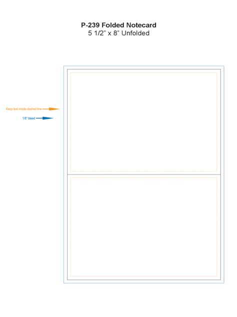 folded card template note cards template 26 free templates in pdf word