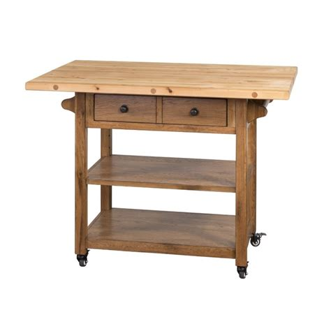 rustic oak butcher block kitchen island cart oak kitchen sunny designs sedona butcher block table kitchen cart in