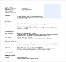 Professional Resume Word Template by 21 Word Professional Resume Templates Free