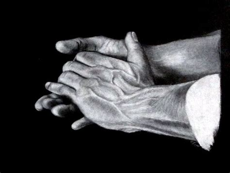 white charcoal drawings white charcoal hands