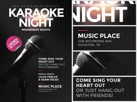 free templates for karaoke flyers karaoke night flyer template flyerheroes