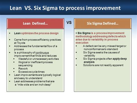 lean six sigma for how improvement experts can help in need and help improve the environment books overview of lean six sigma ppt