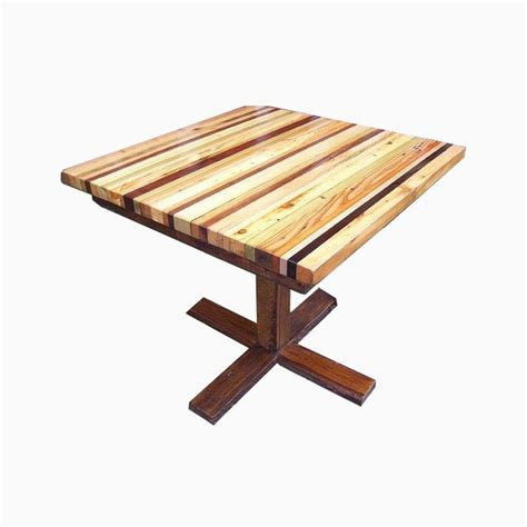 Kitchen Table Base Buy A Made Butcher Block Kitchen Table With Reclaimed Wood Pedestal Base Made To Order