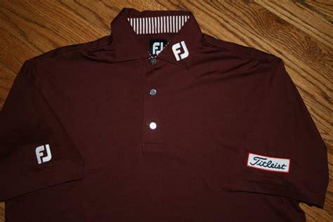 fj footjoy titleist golf polo shirt s medium polyester
