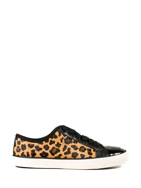 leopard print sneakers for burch leopard print sneakers lyst