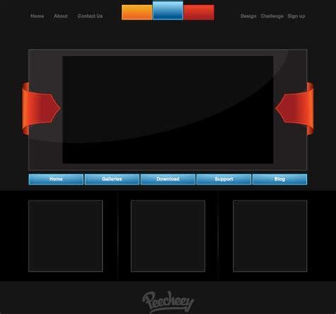 free website templates for adobe illustrator web template free vector in adobe illustrator ai ai