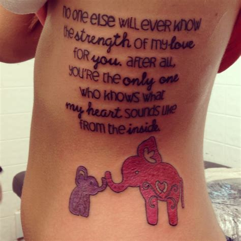tattoo quotes about a mother s love elephant quotes tattoos motherdaughter little miss