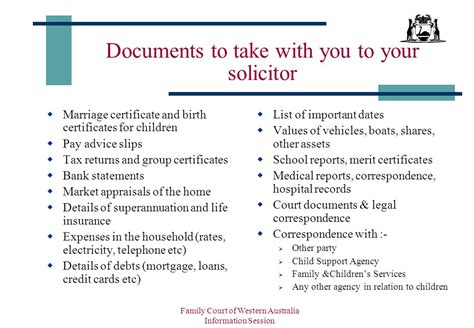 Divorce Records Western Australia Family Court Of Western Australia Ppt