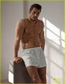 Shirtless david gandy models his underwear collection looking hotter