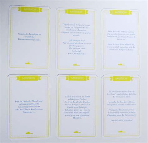 Das Hochzeit by Steffi S Hochzeitsblog Das Chaoskarten Hochzeitsspiel