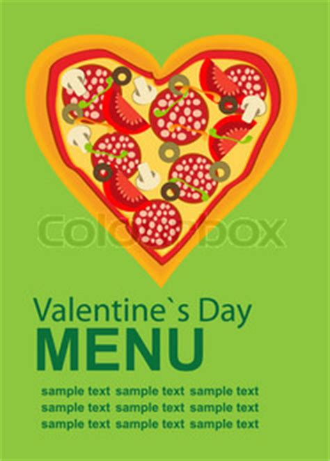 pizza valentines card template pizza menu template on s day vector