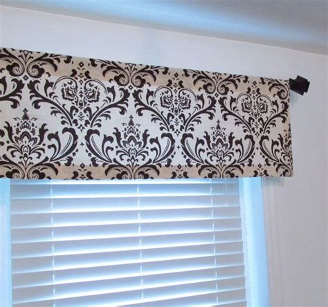 brown damask curtains brown beige damask curtain valance kitchen bedroom