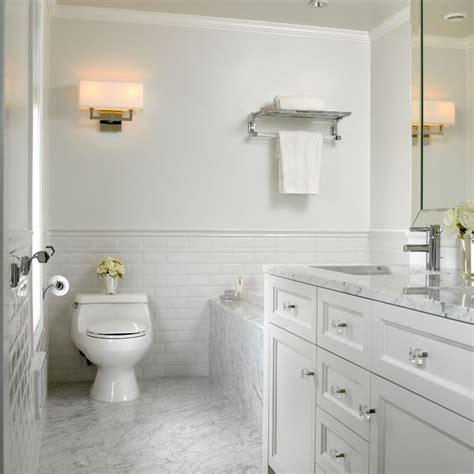 Vanity For Bedroom With Lights - white marble bathroom traditional bathroom vancouver by the sky is the limit design