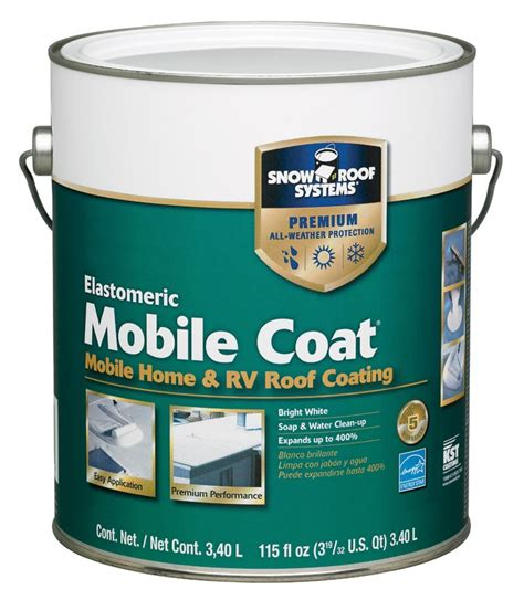 buy the snow roof kst kst0000mc 16 mobile home roof coat