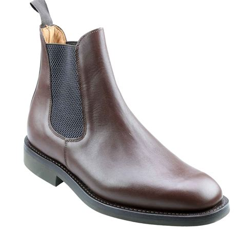 mens brown chelsea boot towcester brown chelsea boot with rubber sole