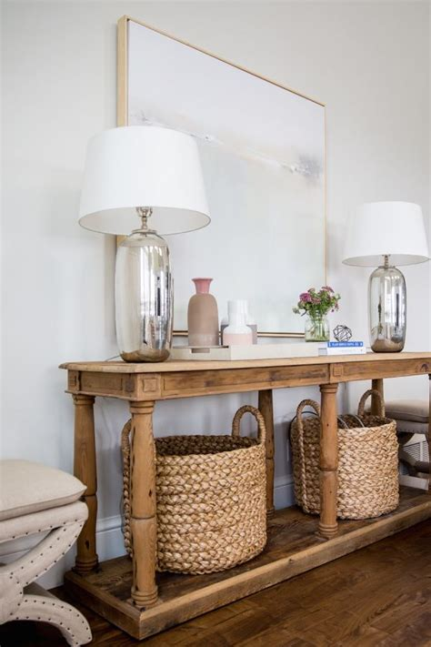 Entryway Table With Baskets 25 Best Ideas About Wicker Baskets On Baskets