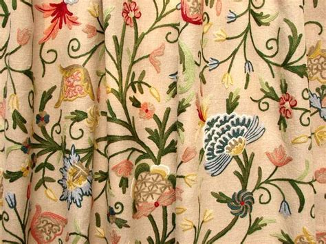 crewel curtain fabric crewel fabrics drapes and curtains traditional other