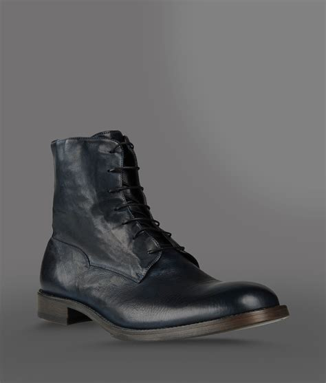 armani boots for emporio armani ankle boot in dyed calfskin with rear