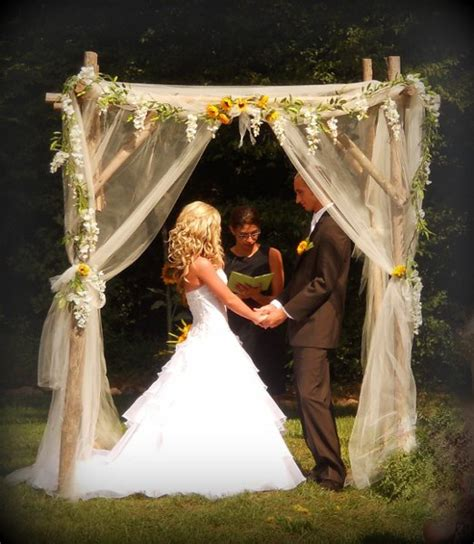 Wedding Arch With Sunflowers by Altar Arch Arrangements Decor Outdoor Ceremony Sunflower