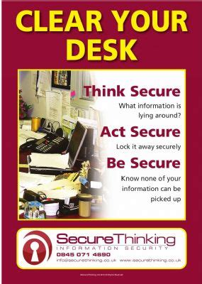 Clean Desk Policy Poster by Pin Clean Desk Policy Flickr Photo On