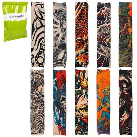 fake tattoos walmart bmc cool 10pc temporary sleeves arm