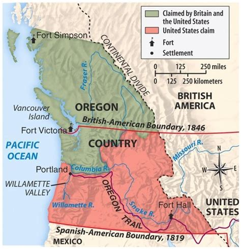 oregon country map 1846 oregon treaty 1846 183 origins of the ideology of manifest