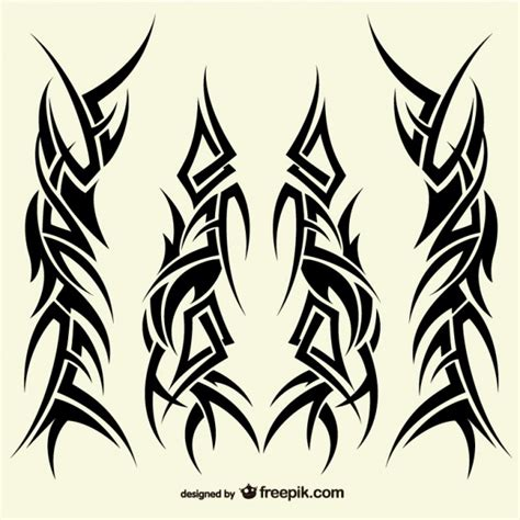 Tribal Pattern Vector Free Download | tattoos tribal designs collection vector free download