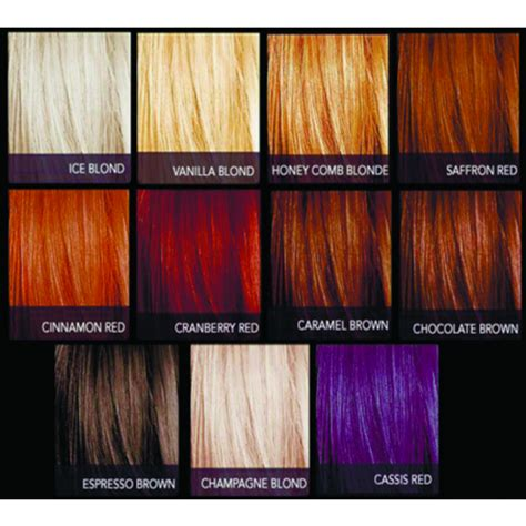 latest hairstyles color chart sebastian cellophanes ball beauty supply