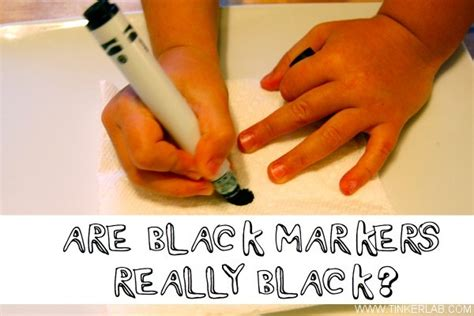 Are Black Markers Really Black? A Chromatography Lesson.   TinkerLab