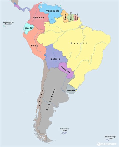 political map of south america free political maps of south america mapswire