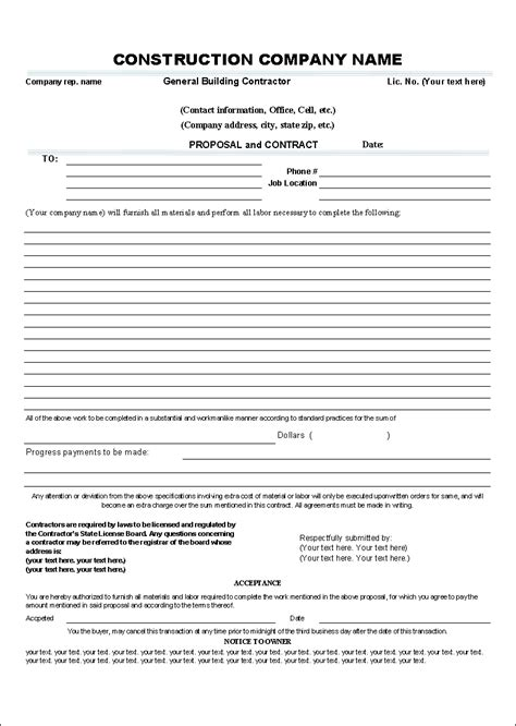 download free proposal and contract template by uniform