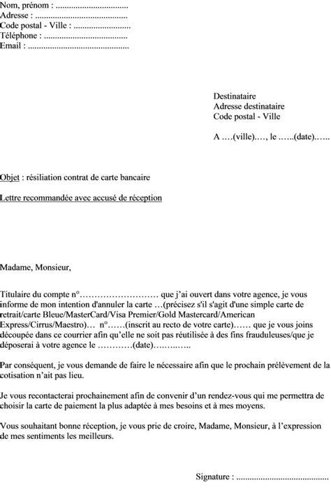 Exemple De Lettre De Motivation Banque Populaire Mod 232 Le De Lettre De R 233 Siliation D Une Carte Bancaire