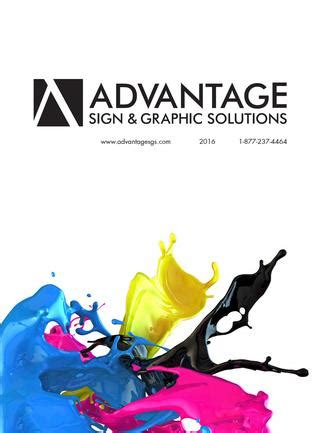 advantage sign & graphic solutions catalog by advantage