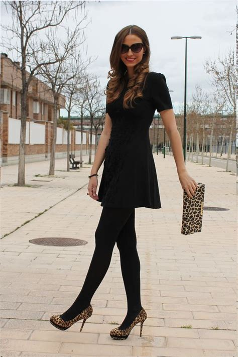 black tights cheetah accessories perf