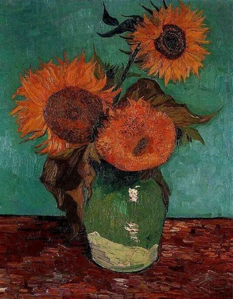 File:Van Gogh Vase with Three Sunflowers Wikimedia Commons