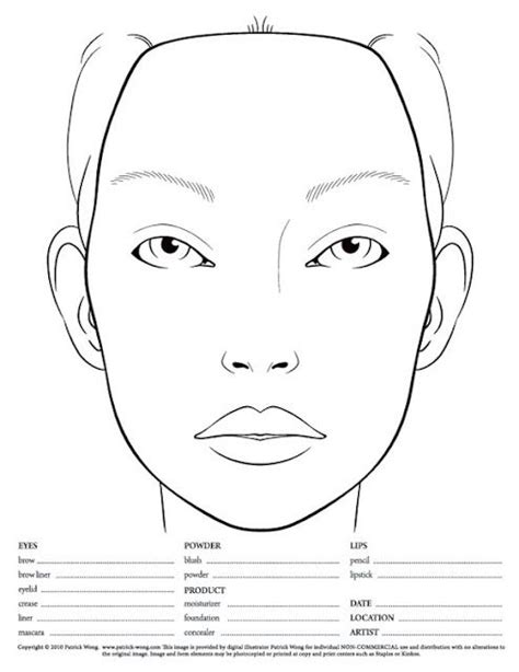 makeup design template i m a makeup artist you see a blank chart i see a