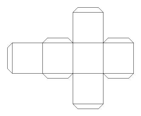 cuboid net template printable blank blueprint template