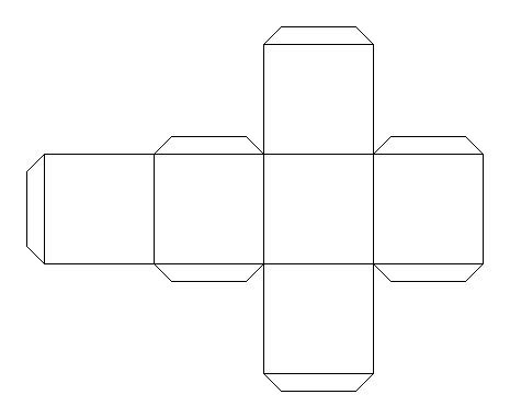 Cube Outline Pdf by Picture Cube Template